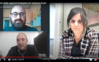 Il presidente di STAF Guastini a colloquio con Nardini su sistema duale e laboratori in presenza